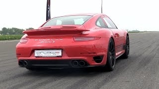 900HP Porsche 991 Turbo S Stage 3 PP-Performance - 1/2 Mile Top Speed Accelerations!!