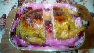 Курица фаршированная блинами.🐤🍗