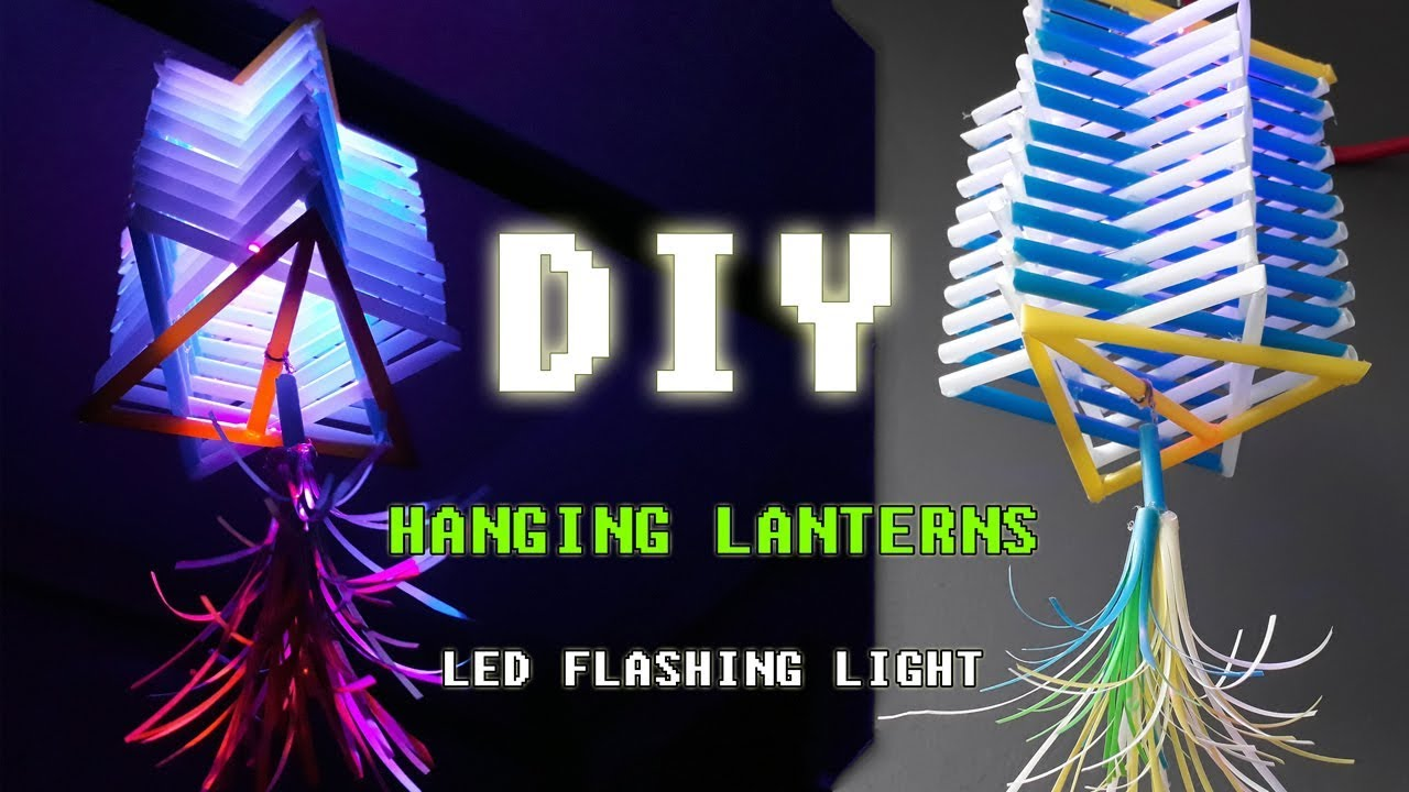 Diy hanging lanterns with straws idea how to make lights - Make hanging lanterns ...