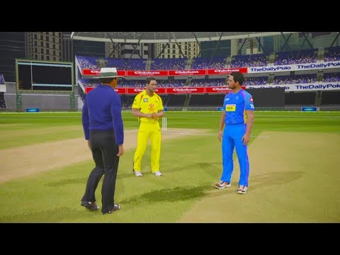 "IPL 2018 ""CSK vs RR"" Ashes Cricket Gameplay"
