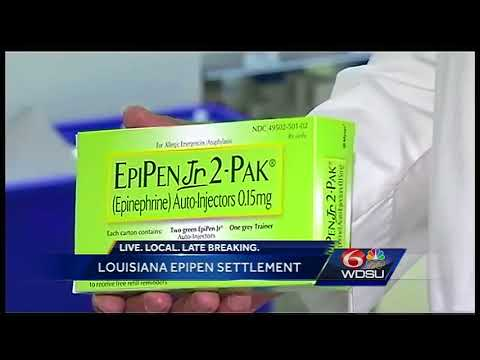Nearly $7 million headed to Louisiana after EpiPen settlemen