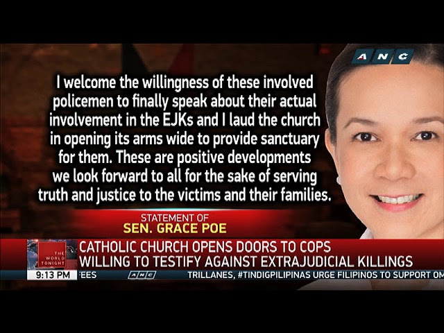 Cops willing to testify on extra-judicial killings, Church official says