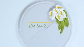How to pipe topping cream Peace Lily - Rich Products Vietnam