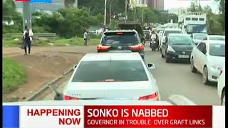 HAPPENING NOW: Governor Sonko lands at Wilson Airport, taken to the EACC Headquarters