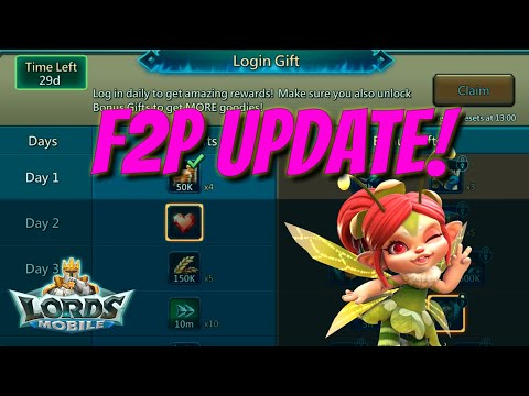 New F2P Daily Rewards Update! - Lords Mobile