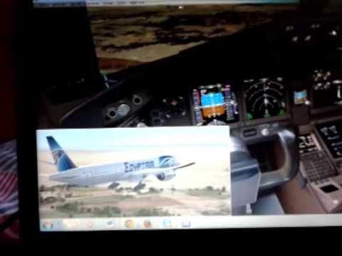 My Landing @ Borg El-arab Airport with egyptair  B777-300ER