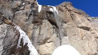 Ice stalagmite in Sangan waterfall (استالاگمیت یخی آبشار سنگان )