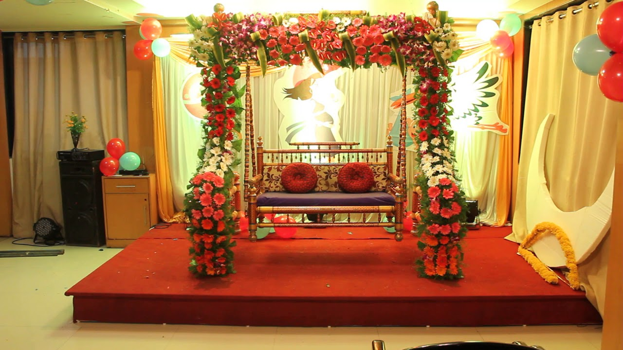 Dohale jevan sajawat baby shower decorations by sukanya events Home decoration tips in marathi