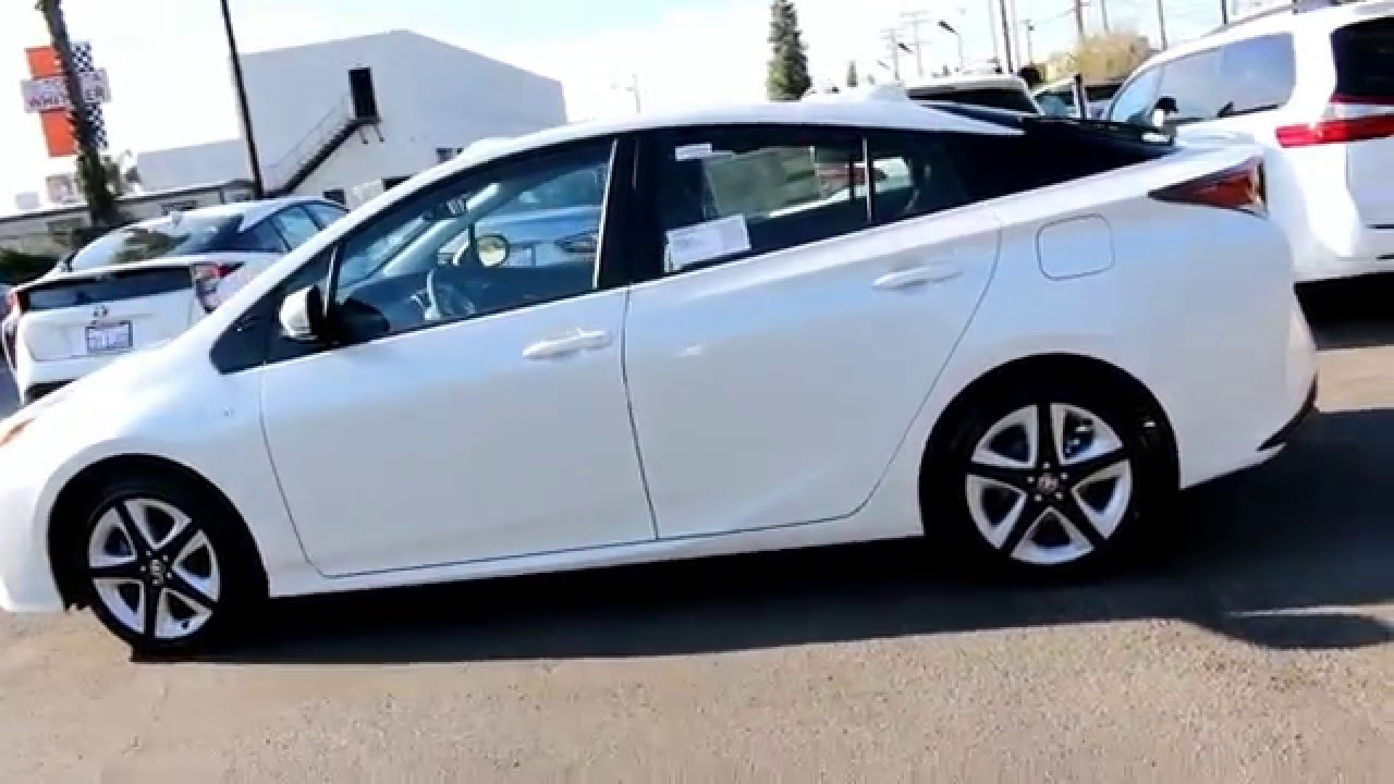 New Design 2016 Toyota Prius Four Touring Blizzard Pearl White 888 718 3693 Of Whittier La Ca You