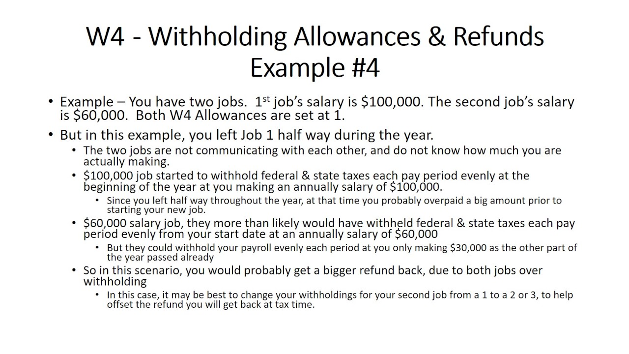 w4 allowances