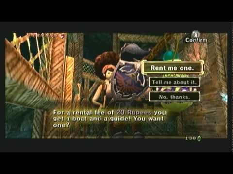 "Legend of Zelda Twilight Princess Walkthrough 09 (7/7) ""Lake Hylia: Bomb Bags & Temple Entrance"""