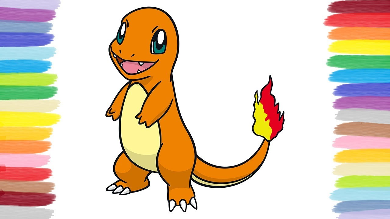 How To Color Charmander Pok 233 Mon Coloring Book For Kids