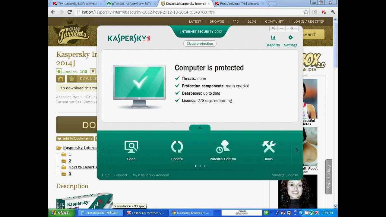 Kat PhKaspersky Antivirus 2012 Fresh Keys