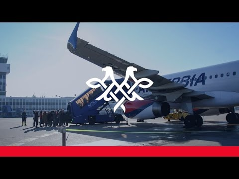 Air Serbia inaugural flight: Belgrade - Zagreb
