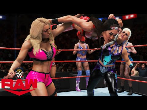 WWE 2K20 RAW MANDY,DANA,KAIRI & RHEA VS THE BELLA TWINS,LYA & CHARLOTTE