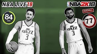 10 Players NBA Live Think Are Good But NBA 2K18 Think Are Bad!