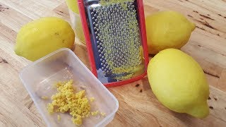 How To Zest A Lemon The Right Way - Easy Natural Lemon Flavor - The Hillbilly Kitchen