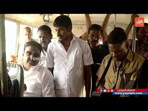 Captain Vijayakanth travels in MTC Bus From Alandur to Palla