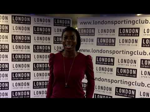 Christine Ohuruogu at the London Sporting Club