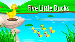 Five Little Ducks Went Out One Day | English Nursery Rhymes for Kids