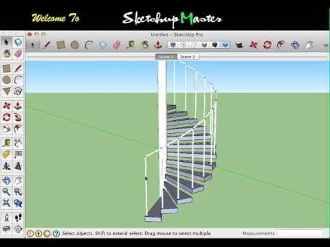Sketchup Spiral Staircase Youtube