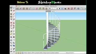 Sketchup - Spiral Staircase
