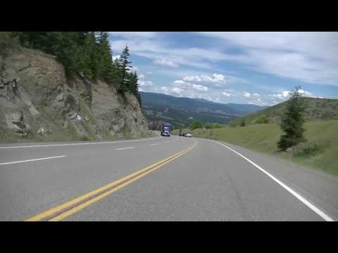Driving on Hwy 3 - Crowsnest Highway - Southern British Columbia Canada