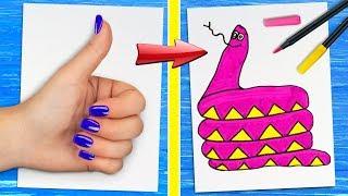 12 حيلة رسم وابتكارات المفروض تعرفوها