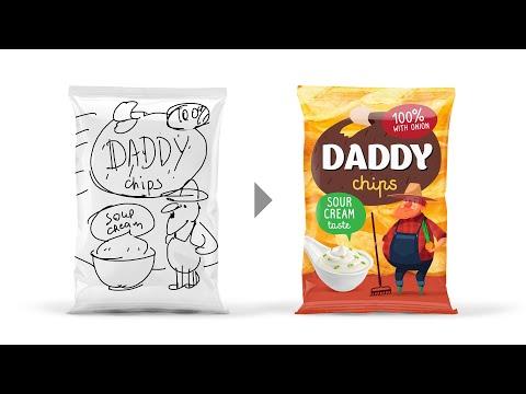 Экспресс разработка дизайна упаковки чипсов. Как не бывает в жизни.