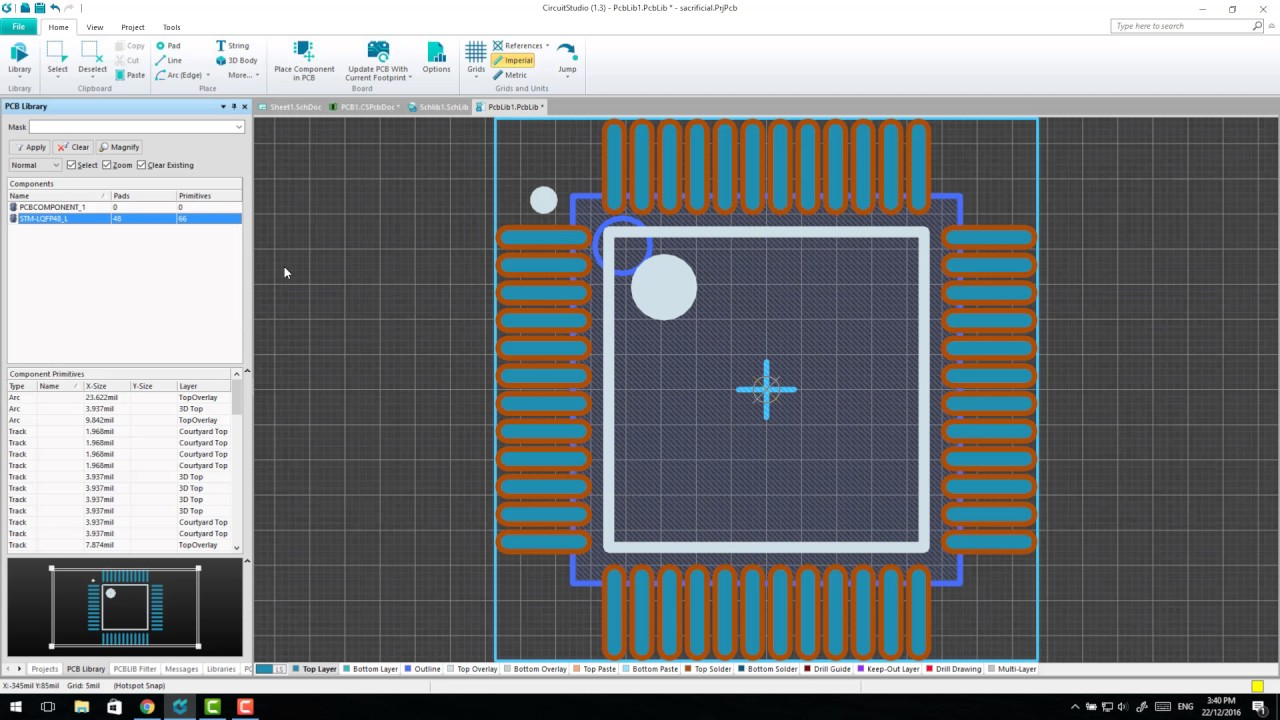 Circuit Studio - Capturing Components from Altium Vault