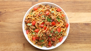 Quick & Easy One-Pot Taco Spaghetti