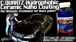 AMAZING Shine! CQuartz UK Hydrophobic Ceramic Nano Paint Coating - Black Lexus ISF - Before/After