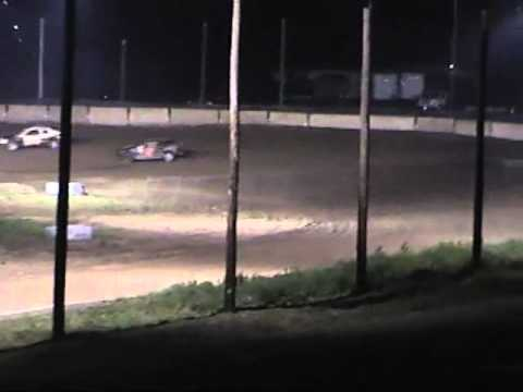 250 speedway Dirt Track 070210 feature 4 cyl Dodge Neon
