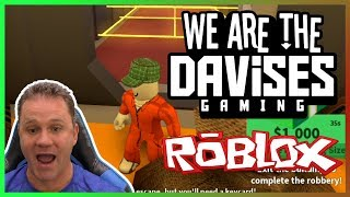 I Finally Robbed A Bank | Roblox Jailbreak EP-27 | We Are The Davises Gaming