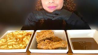 ASMR CHEESEY MAC &amp CHEESE AND CRISPY FRIED CHICKEN CHICK-FIL-A &amp KFC MUKBANG (NO TALKING) ALES ASMR