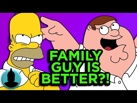 11 Ways Family Guy is BETTER Than The Simpsons - Family Guy Week (Tooned Up S2 E54)