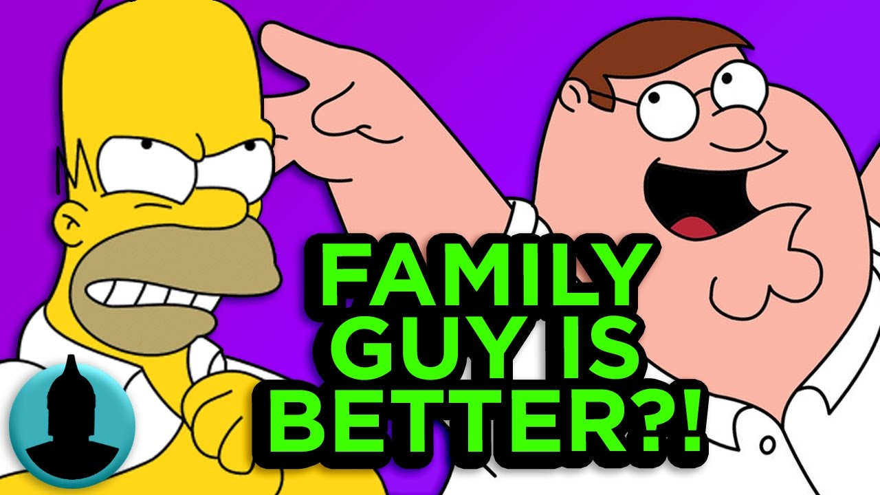 compare contrast family guy and the simpsons