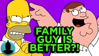 11 Ways Family Guy is BETTER Than The Simpsons - Family Guy Week (ToonedUp #190) ChannelFrederator