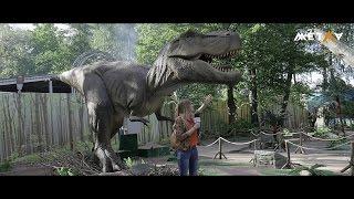 """Ожившие динозавры в парке """"Тайны мира"""""""