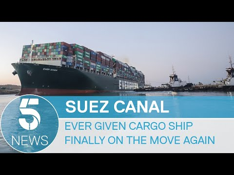 Suez Canal: Giant cargo ship, Ever Given, freed from waterway | 5 News