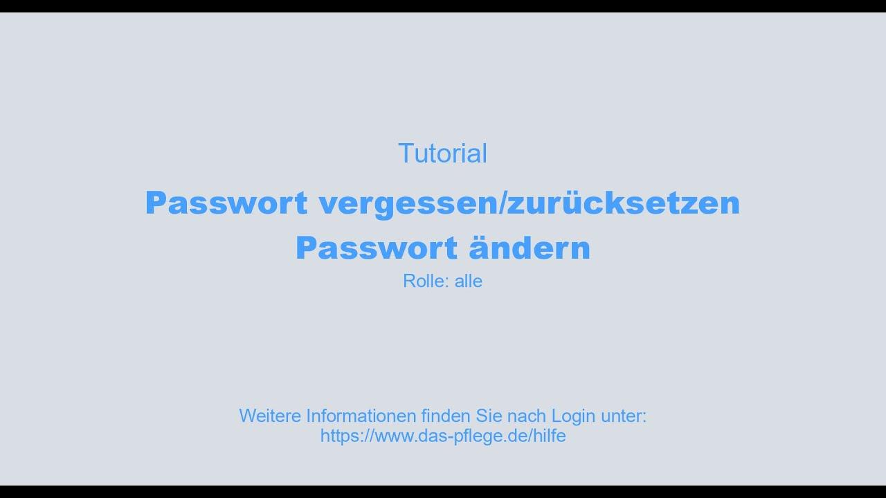 Passwort vergessen - YouTube