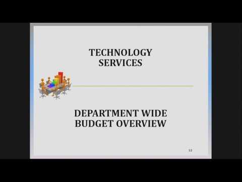 Technology Services Budget Presentation 2017