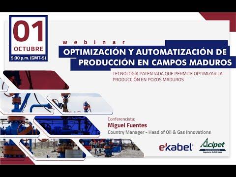 WEBINAR - OPTIMIZACIÓN Y AUTOMATIZACIÓN DE PRODUCCIÓN EN CAMPOS MADUROS