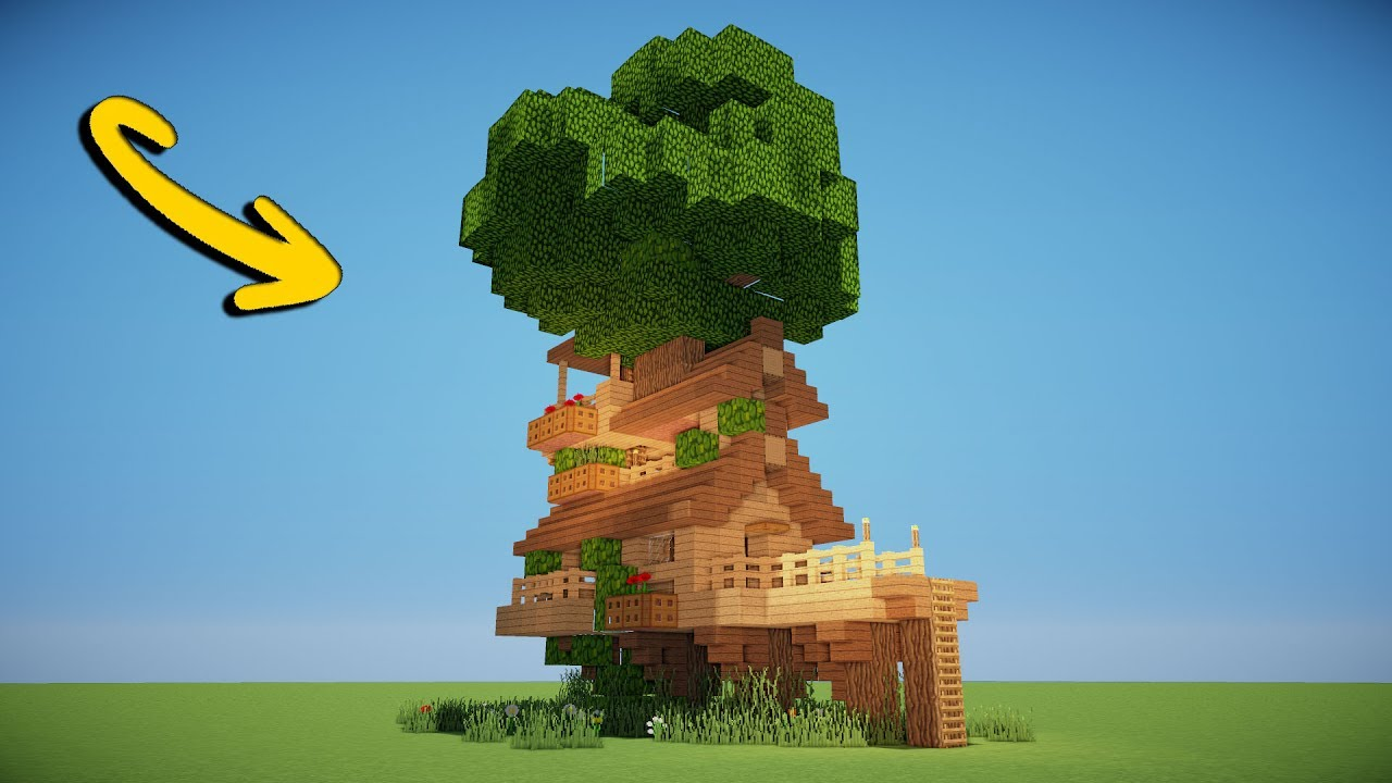 AWESOME TREE HOUSE - Minecraft Tutorial - YouTube