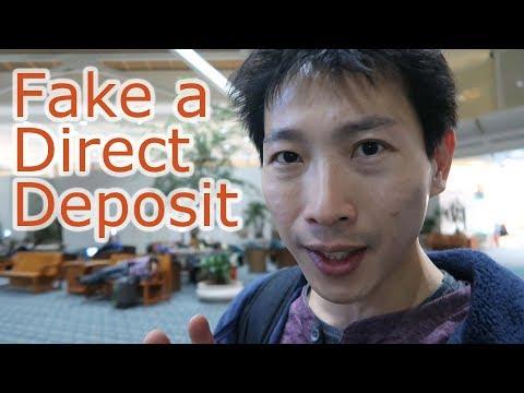 Fake a Direct Deposit