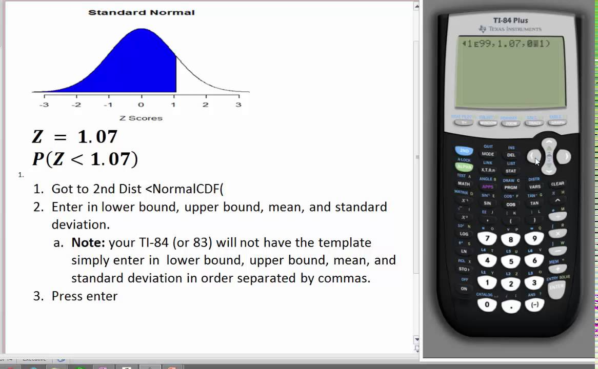 How To Find A Proportion On Ti84 Using Normal Cdf Command Youtube