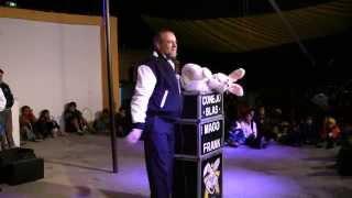 Mago Frank y el conejo Blas en Nopalucan, Puebla