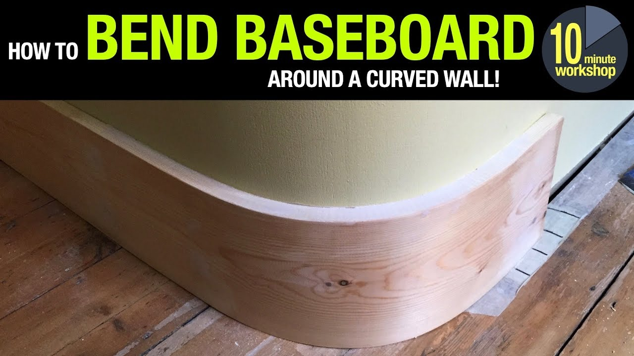 How To Bend Baseboard Around A Curved, How To Cut Baseboard Around Rounded Corners