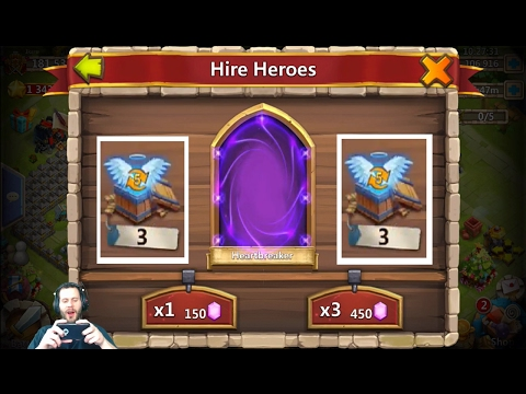 Rolling 110,000 Gems For HeartBreaker INSANE Session Castle Clash
