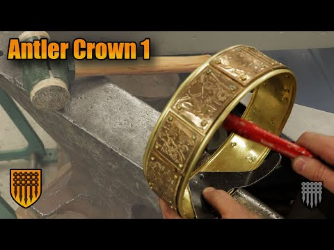 How to make a crown: Deer Skull Viking Crown with Real Antlers - Part 1